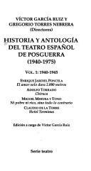Historia y Antologia del Teatro Espanol de Posguerra (1940-1975)