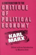 Download Contribution to the Critique of Political Economy