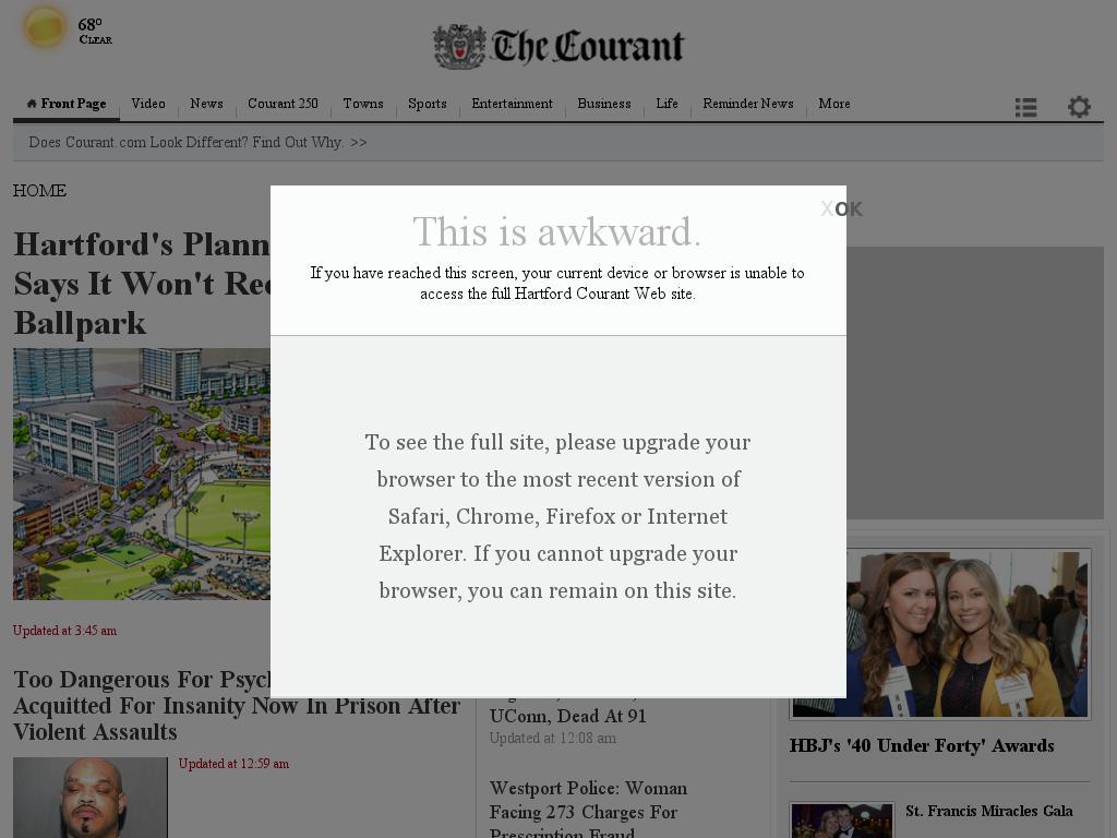 Hartford Courant at Wednesday Sept. 24, 2014, 4:07 p.m. UTC