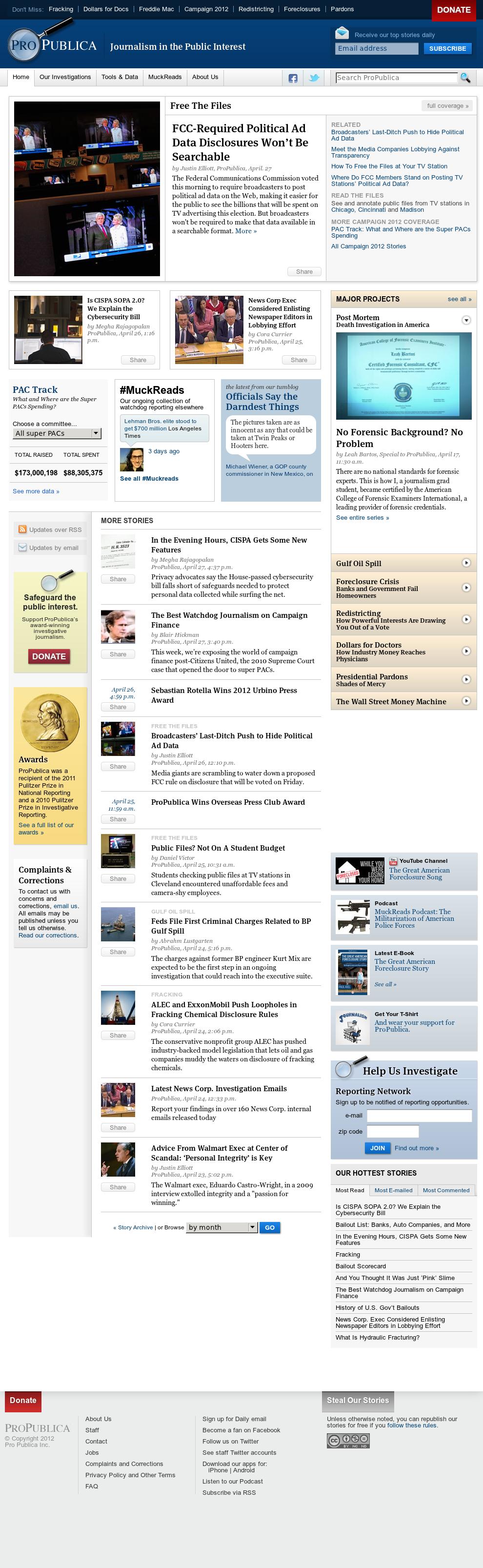 ProPublica at Monday April 30, 2012, 10:09 a.m. UTC