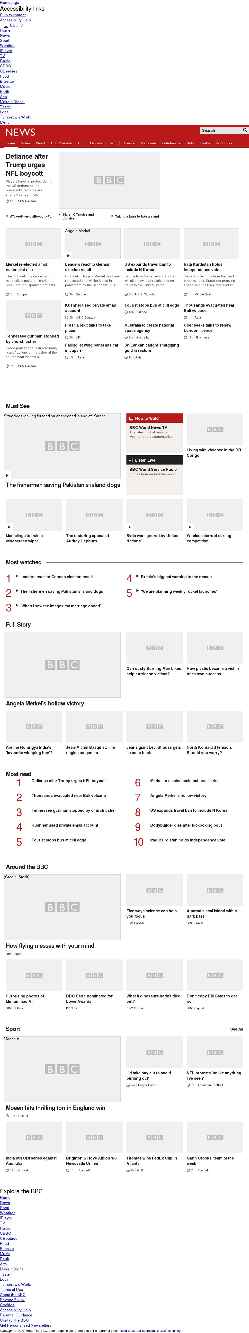 BBC at Monday Sept. 25, 2017, 6 a.m. UTC