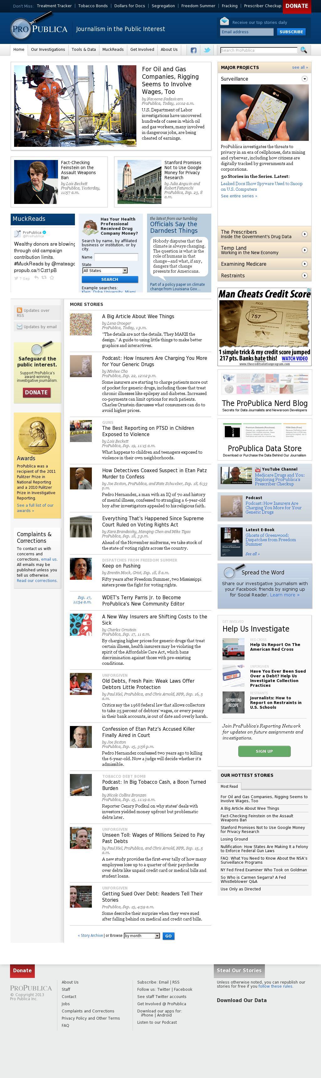 ProPublica at Friday Sept. 26, 2014, 2:16 a.m. UTC