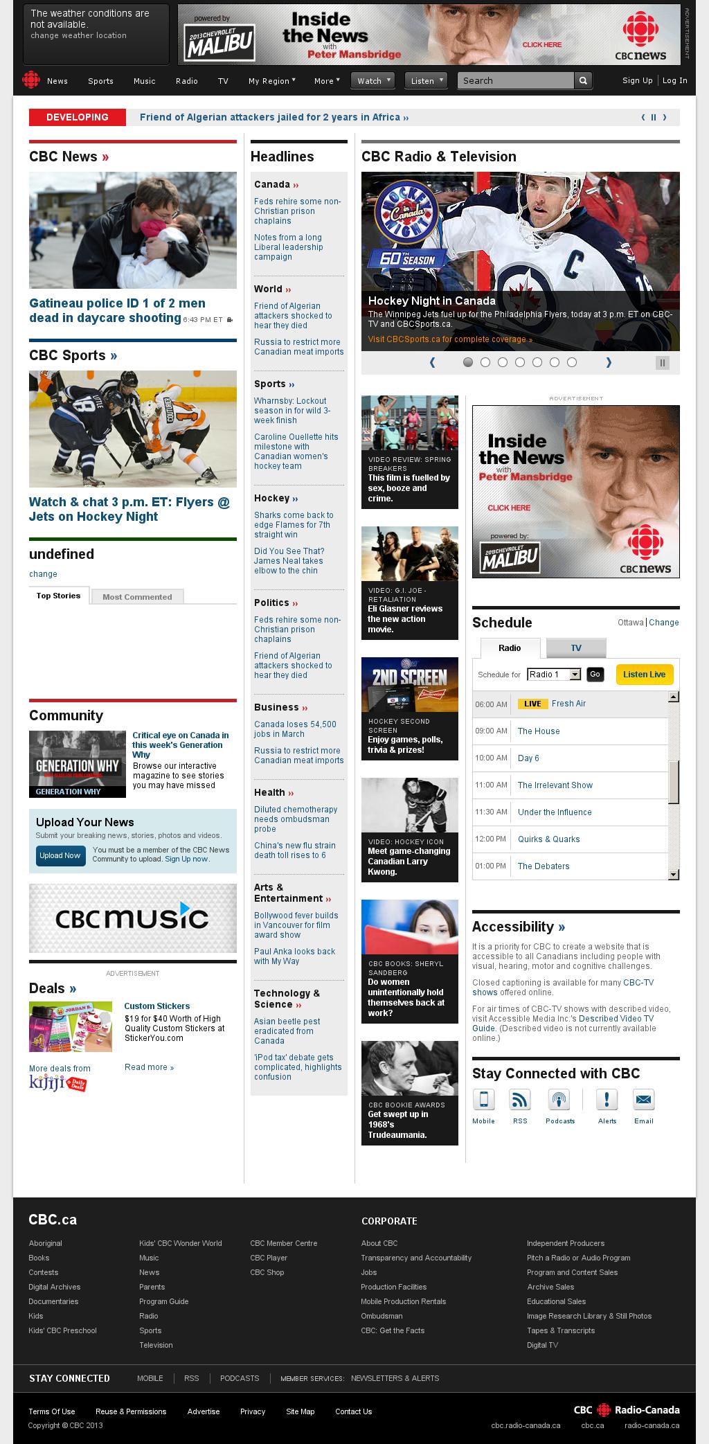 CBC at Saturday April 6, 2013, 10:03 a.m. UTC