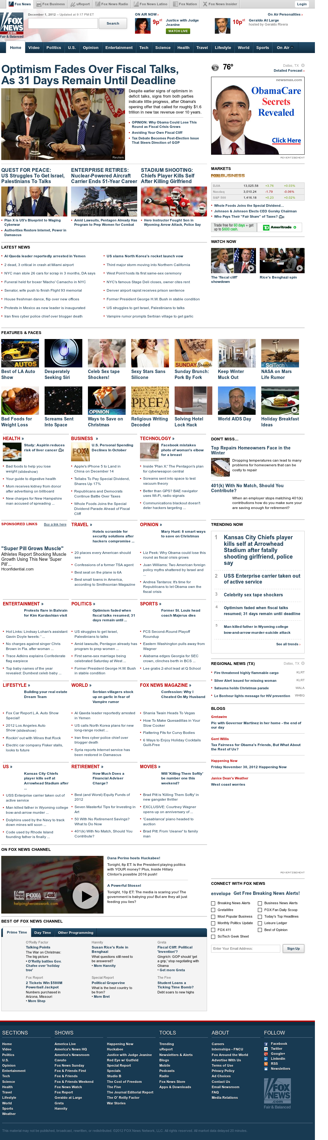Fox News at Sunday Dec. 2, 2012, 3:09 a.m. UTC