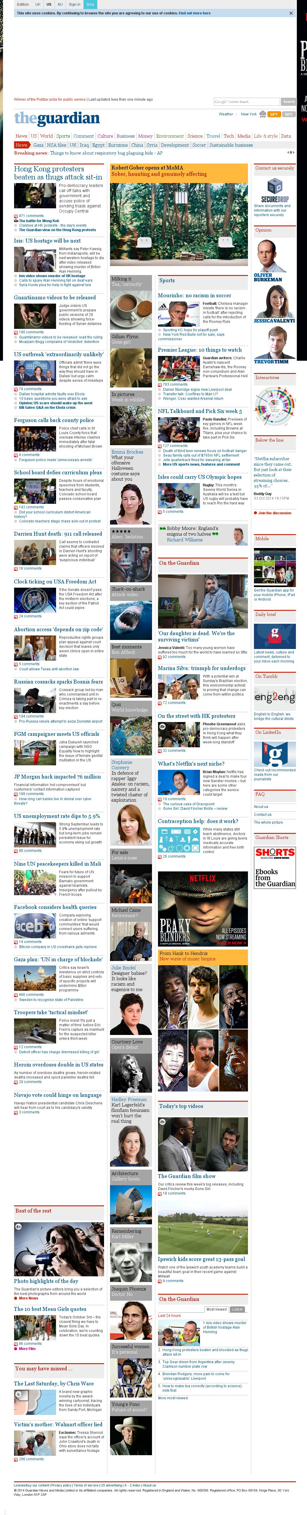The Guardian at Saturday Oct. 4, 2014, 1:11 a.m. UTC