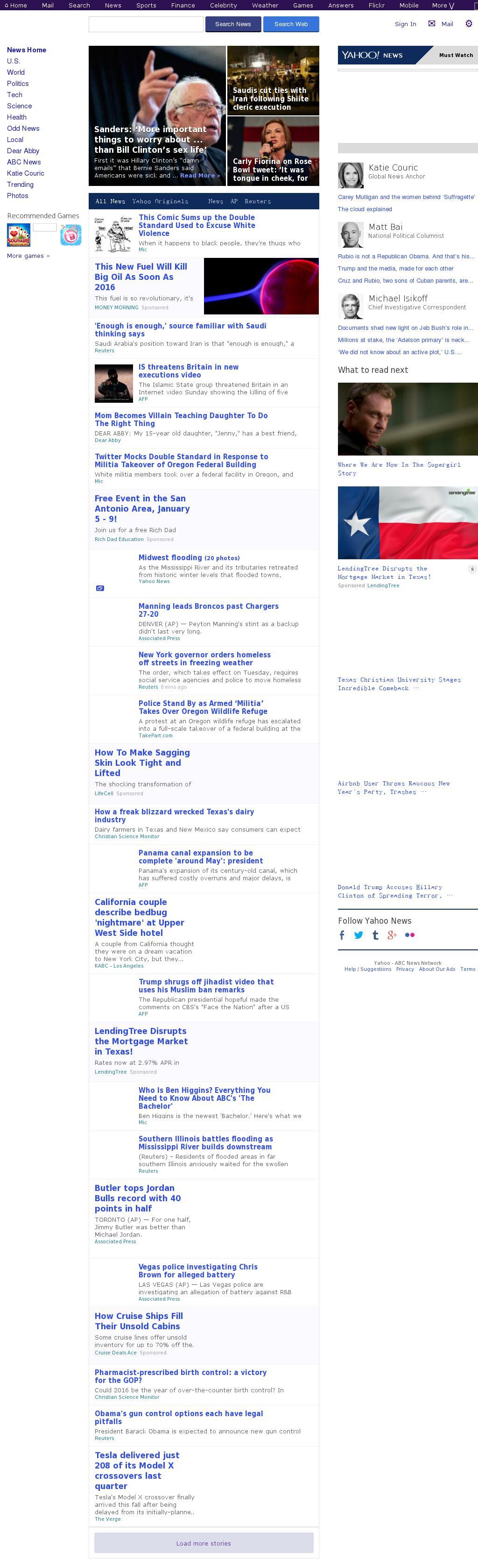 Yahoo! News at Monday Jan. 4, 2016, 2:38 a.m. UTC