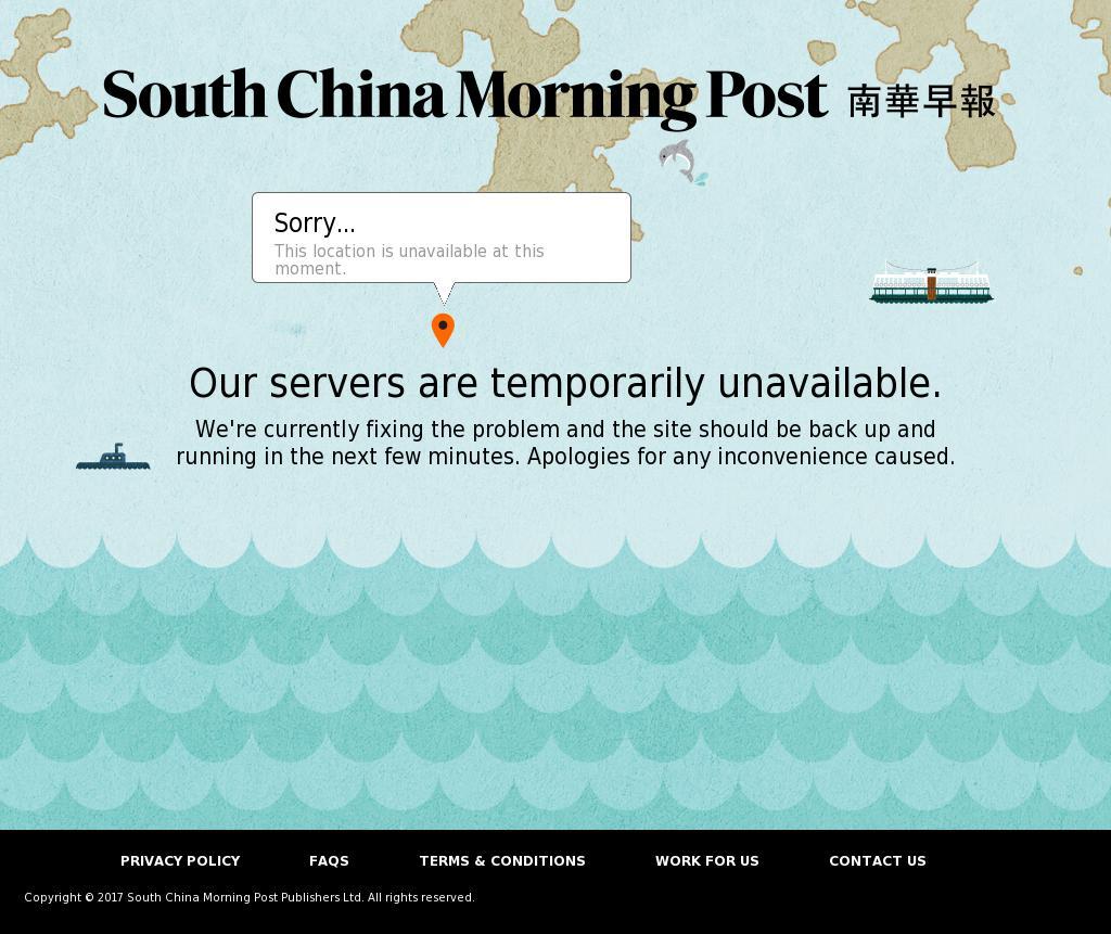 South China Morning Post at Saturday Oct. 7, 2017, 6:13 p.m. UTC