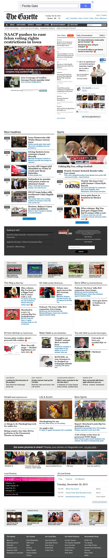 The (Cedar Rapids) Gazette at Tuesday Nov. 20, 2012, 3:08 p.m. UTC