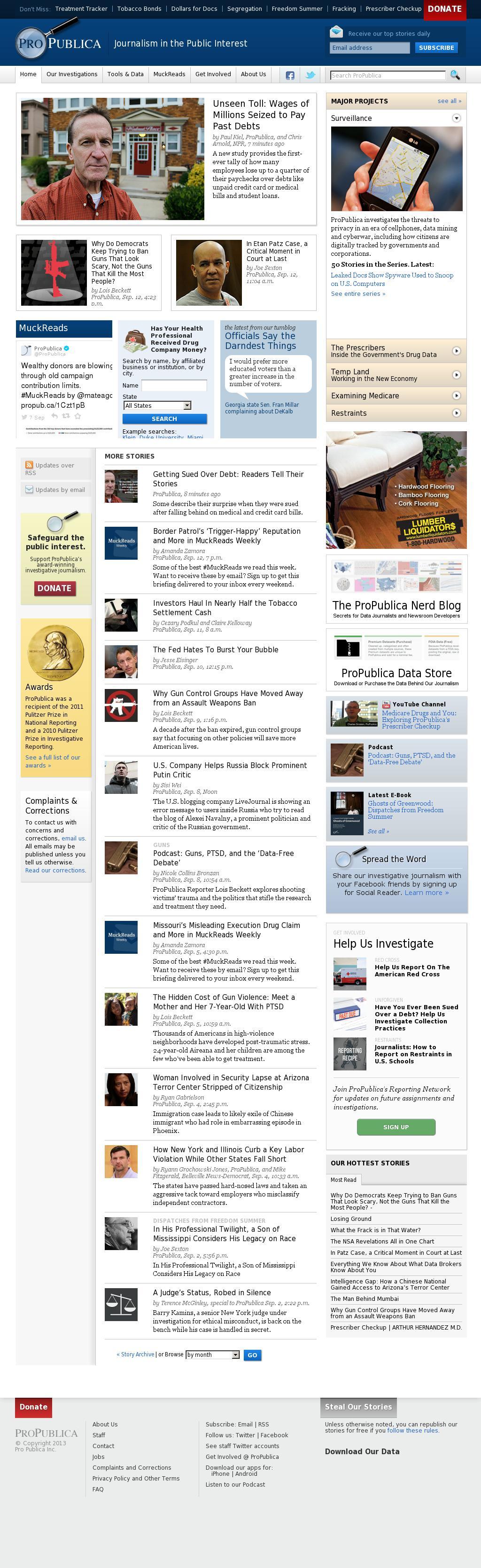 ProPublica at Monday Sept. 15, 2014, 9:15 a.m. UTC