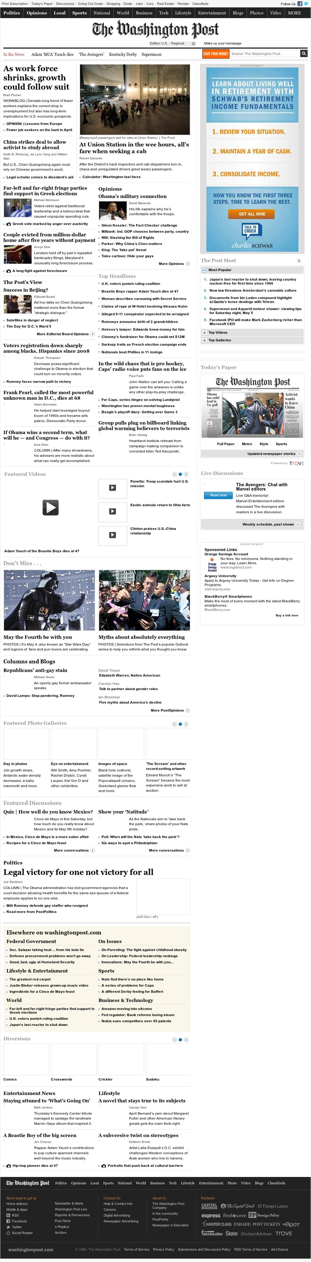 The Washington Post at Saturday May 5, 2012, 4:15 a.m. UTC